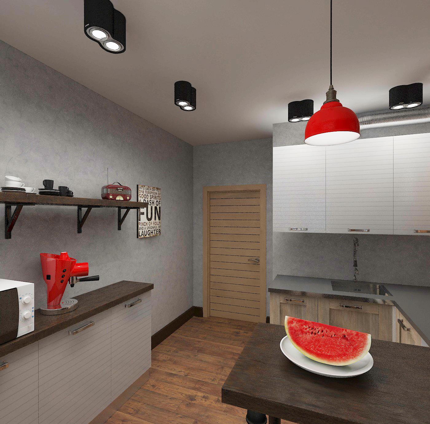 Лофт дизайн 1 комнатная