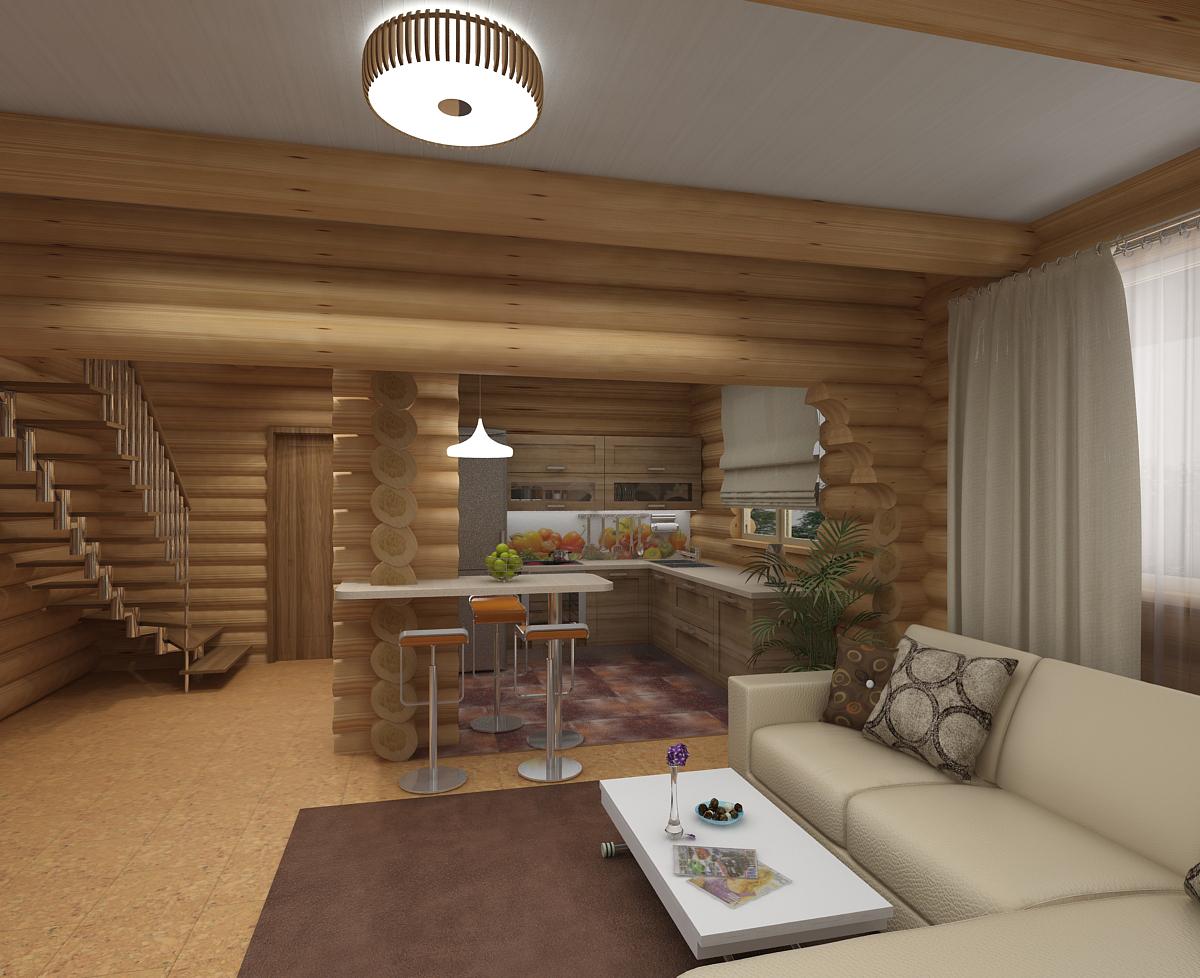 Проекты дизайна деревянного дома